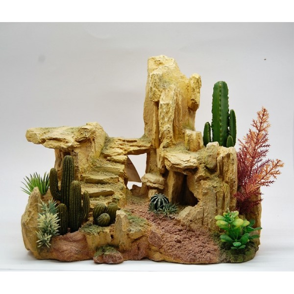 DECOR CACTUS ROCK