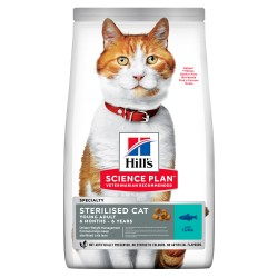 HILL'S SCIENCE PLAN Young Adult Sterilised Cat Ξηρή Τροφή Για Γάτες Με Τόνο - 1.5kg
