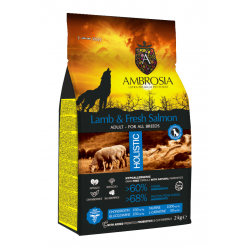 Ambrosia Grain Free  Adult Lamb & Fresh Salmon  12kg