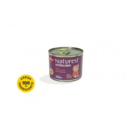 NATUREST STERILISED BEEF AND SALMON WITH SALMON OIL 200G