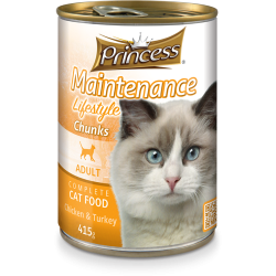 Princess Maintenance Lifestyle Chunks Chicken & Turkey 415g