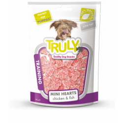TRULY BITES CHICKEN TRAINING MINI HEARTS  90gr