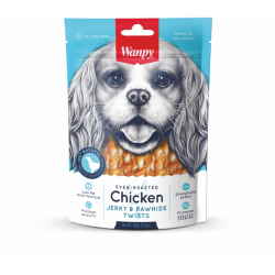 WANPY BITES CHICKEN JERKY & RAWHIDE TWISTS 100gr
